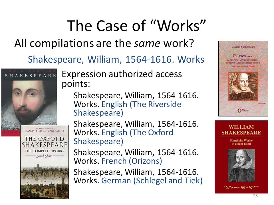 The Case of Works All compilations are the same work.