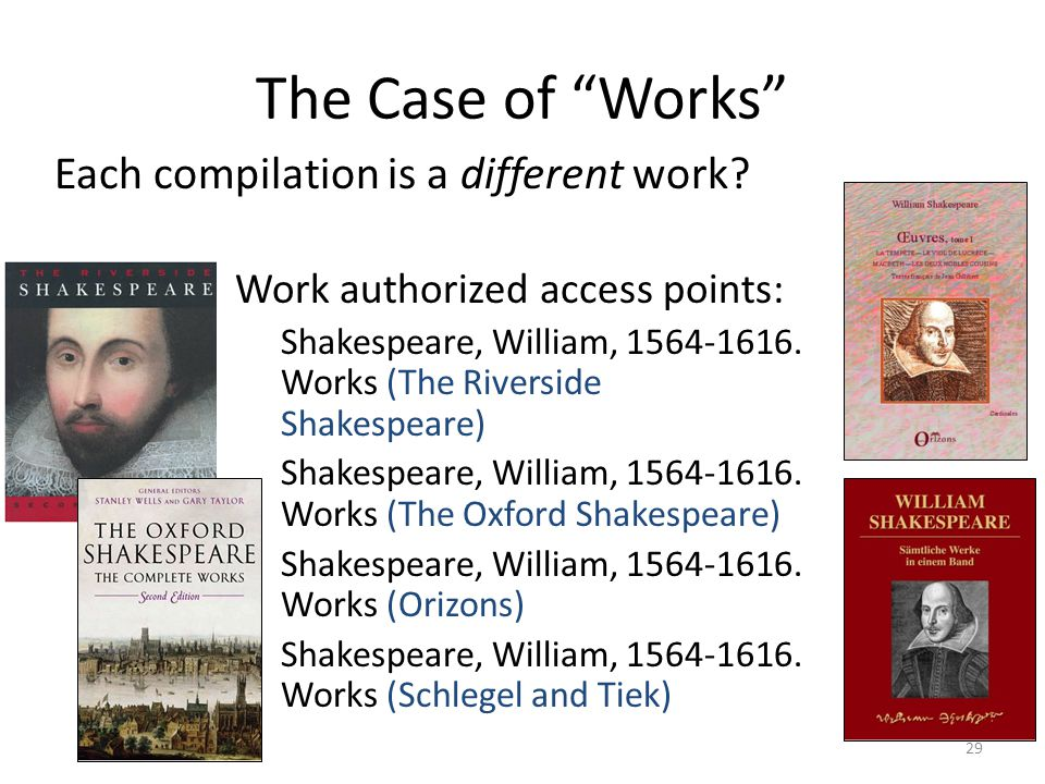 The Case of Works Each compilation is a different work.
