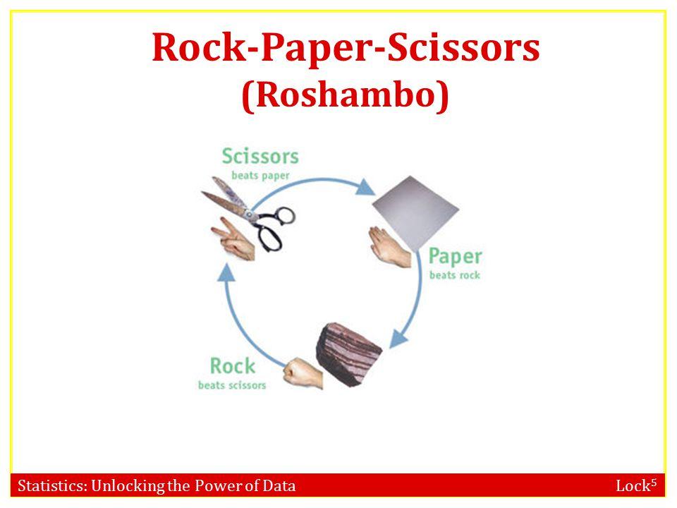 Statistics: Unlocking the Power of Data Lock 5 Rock-Paper-Scissors (Roshambo)