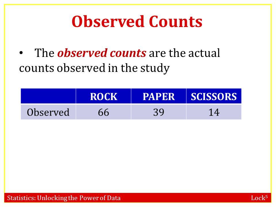 Statistics: Unlocking the Power of Data Lock 5 p-value using χ 2 distribution www.lock5stat.com/statkey