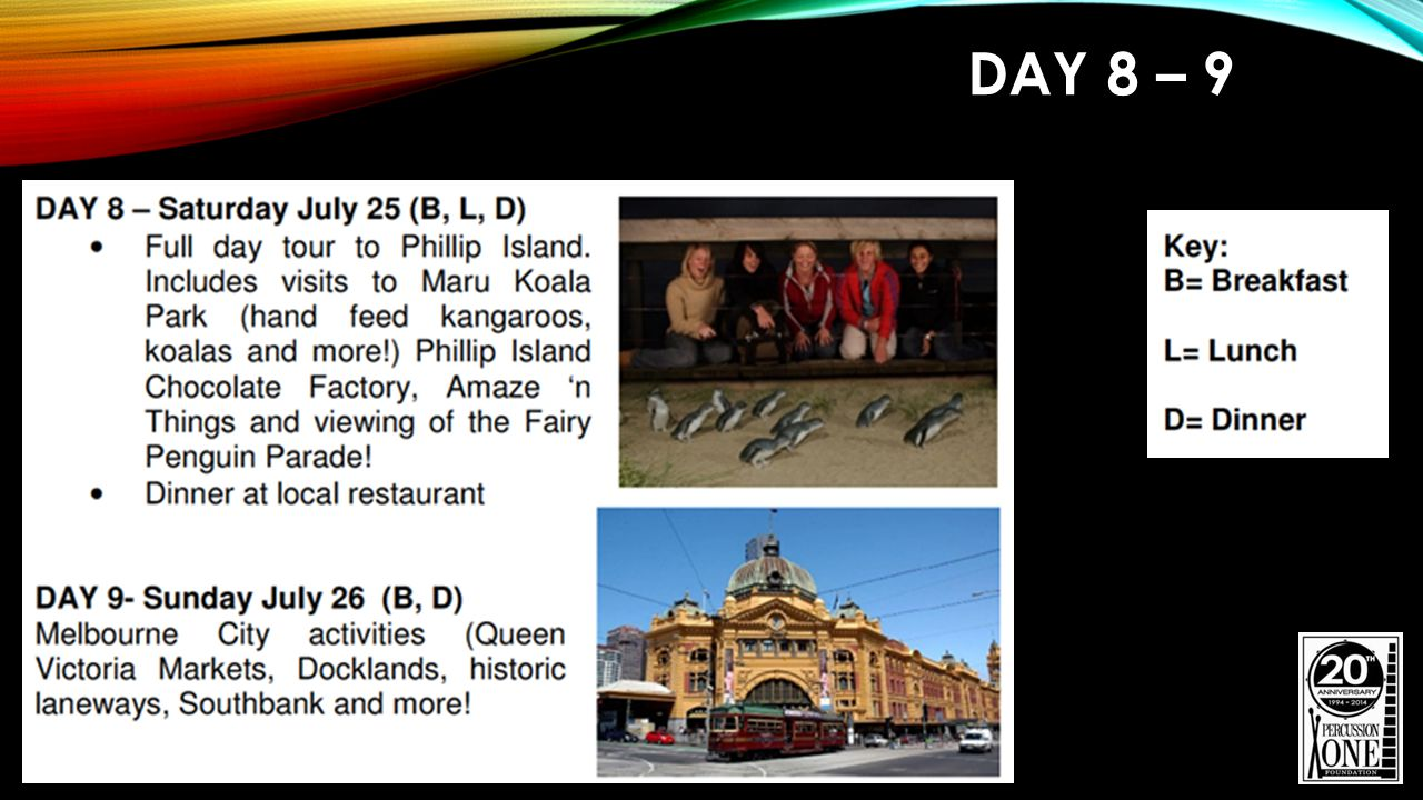 DAY 8 – 9