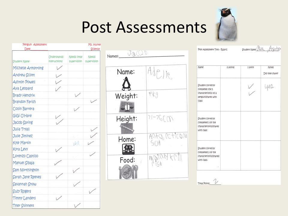 Post Assessments