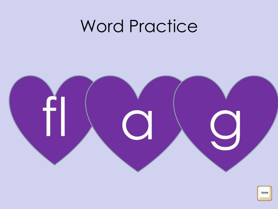 Word Practice fl ag
