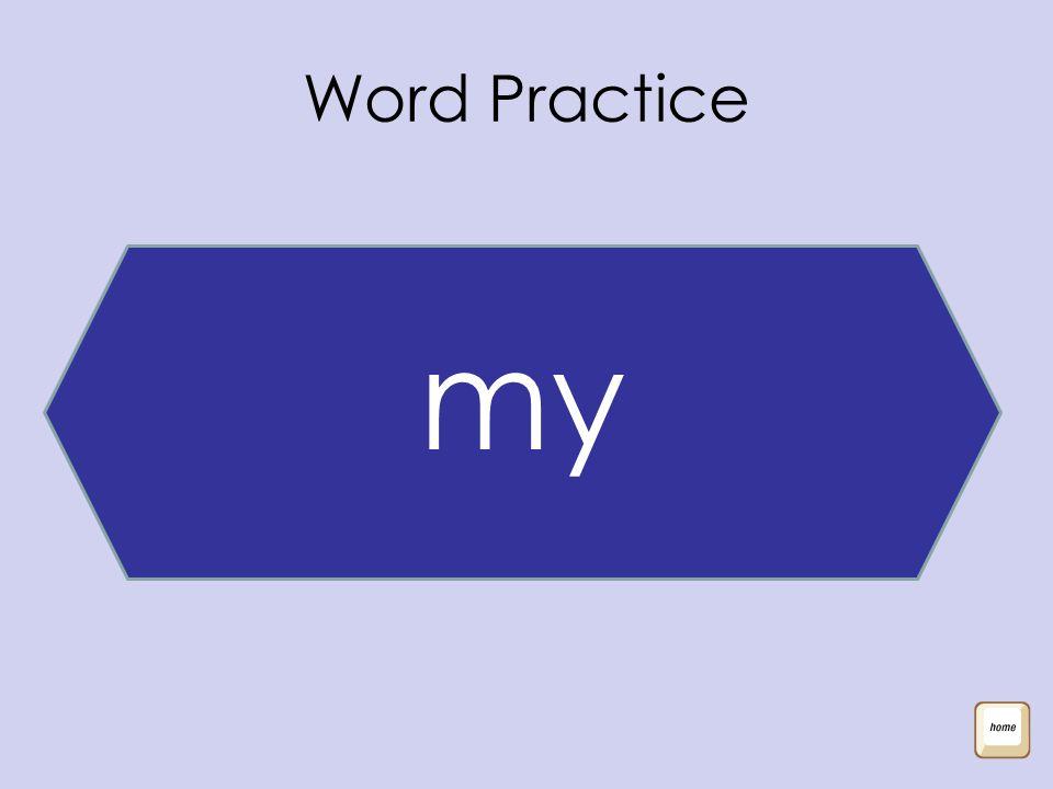 Word Practice my