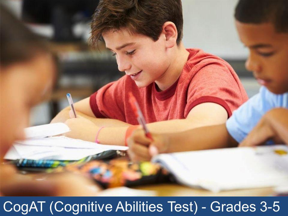 CogAT (Cognitive Abilities Test) - Grades 3-5