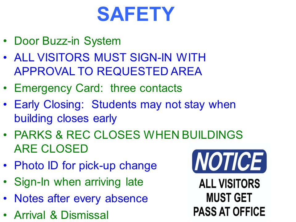 Using Lobby Guard *Please bring your ID *Scan ID and Print Label *Sign Out when leaving *Additional options being added