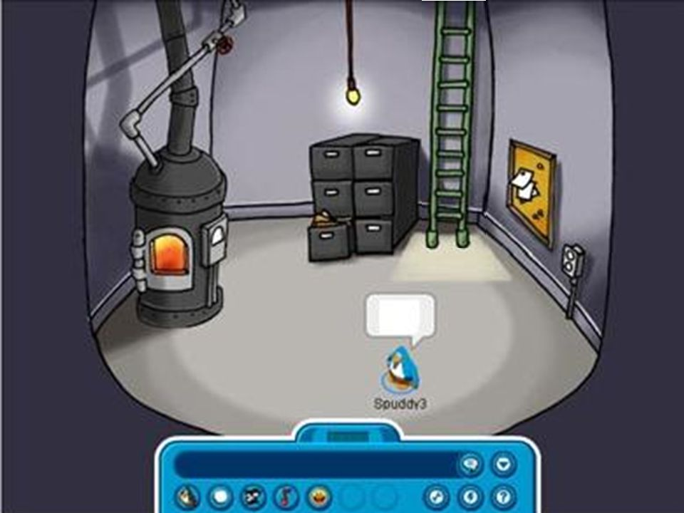 Click the doors to go back to Club Penguin!