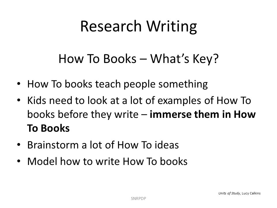 Research Writing How To Books – What's Key.