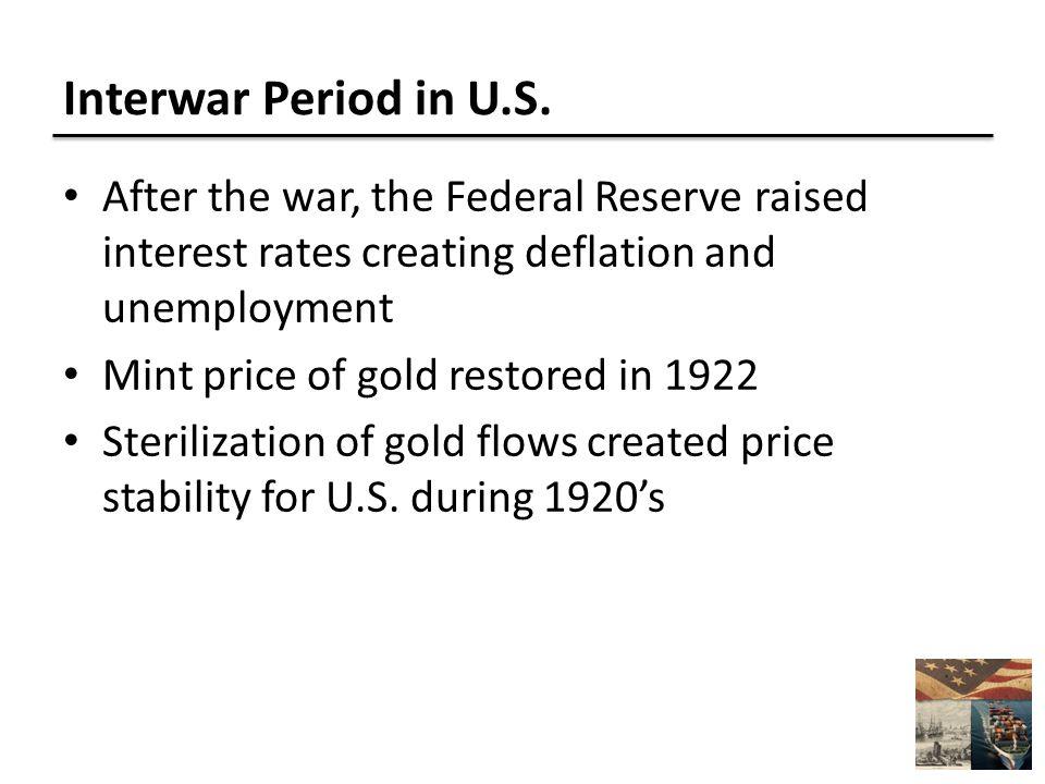 Interwar Period in U.S.