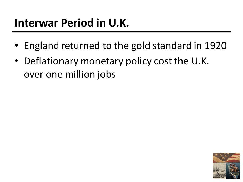 Interwar Period in U.K.