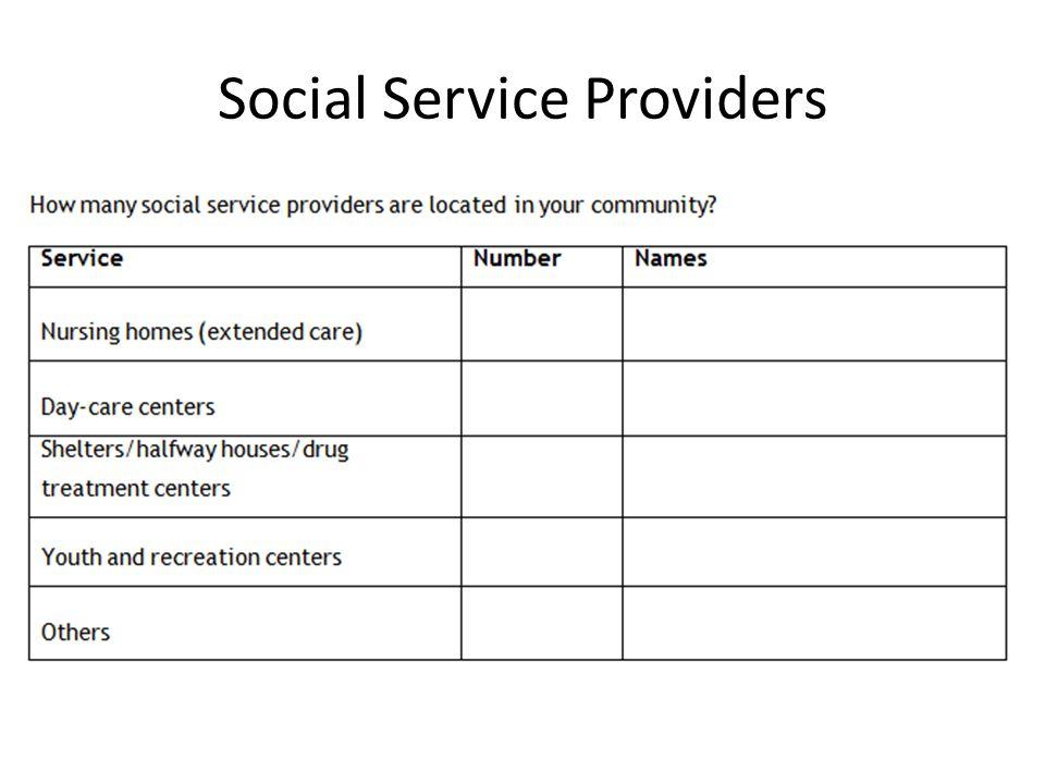 Social Service Providers