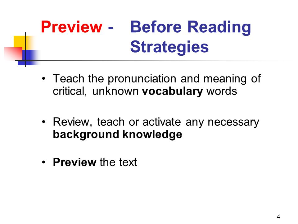 45 Preview - During Reading Strategies Utilize passage reading procedures that provide adequate reading practice Ask appropriate questions during passage reading Have students generate questions Teach text structure strategies that can be applied to passage reading