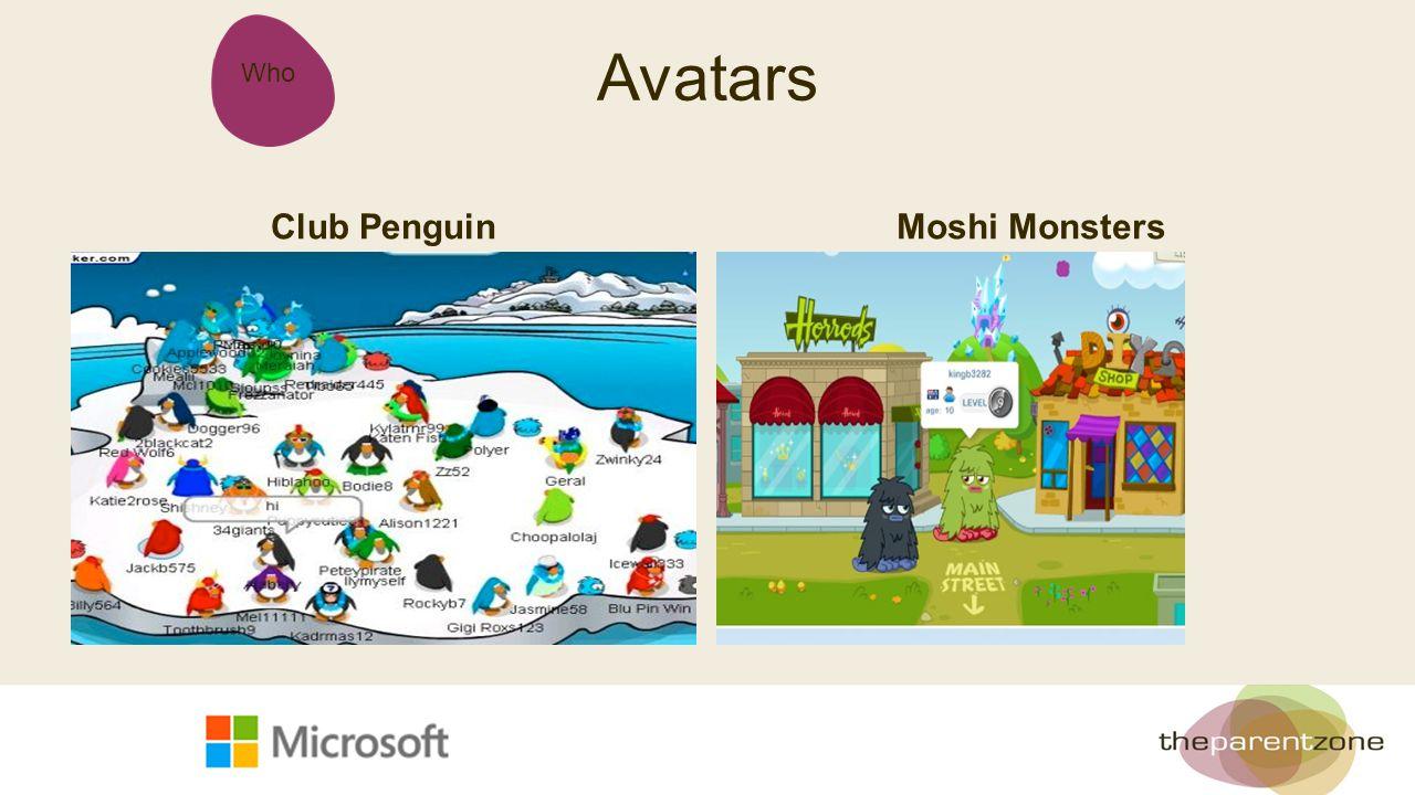 Who Avatars Club PenguinMoshi Monsters