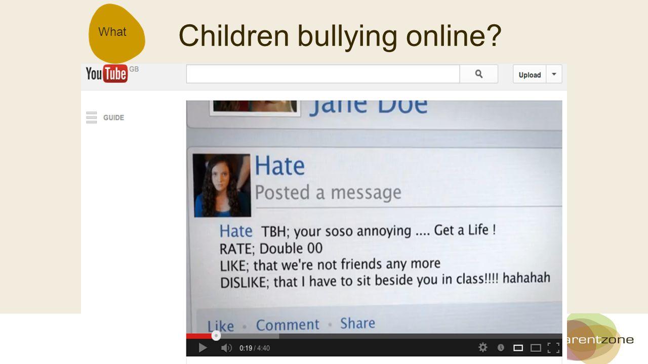 What Children bullying online