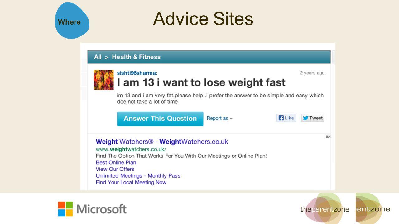 Where Advice Sites