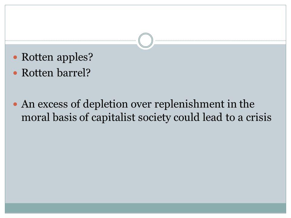 Rotten apples. Rotten barrel.