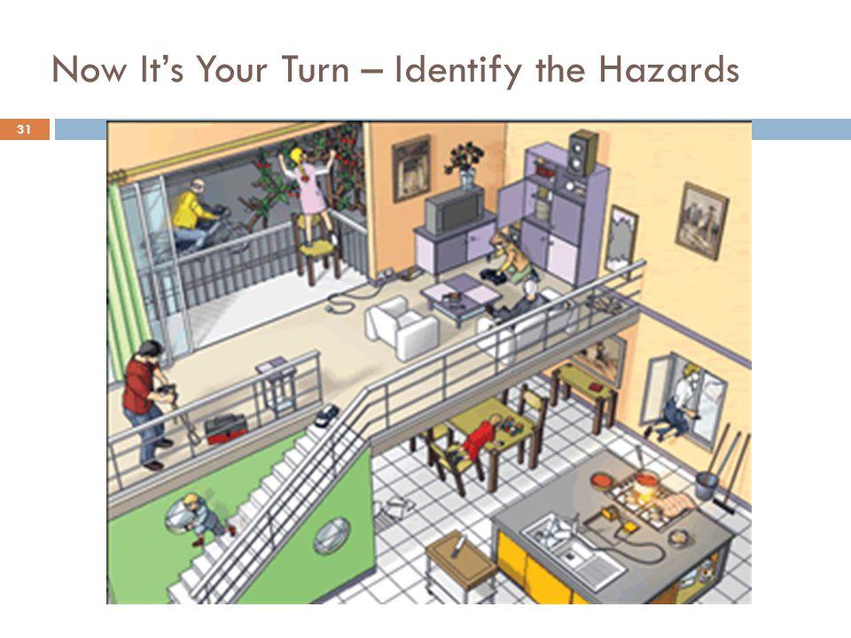 31 Now It's Your Turn – Identify the Hazards