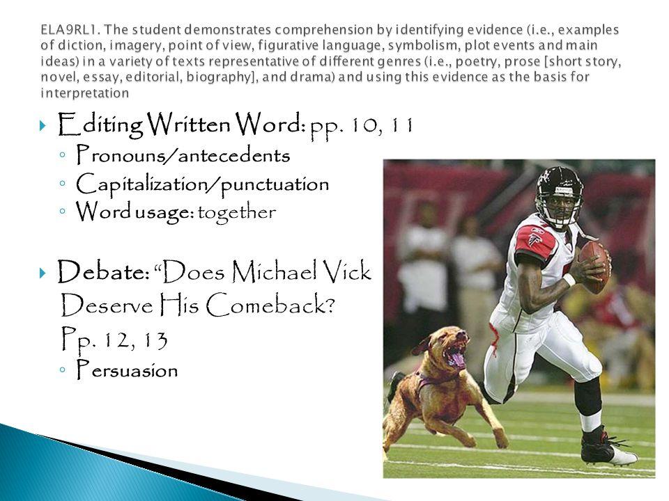  Editing Written Word: pp.