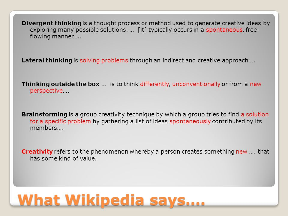 What Wikipedia says….