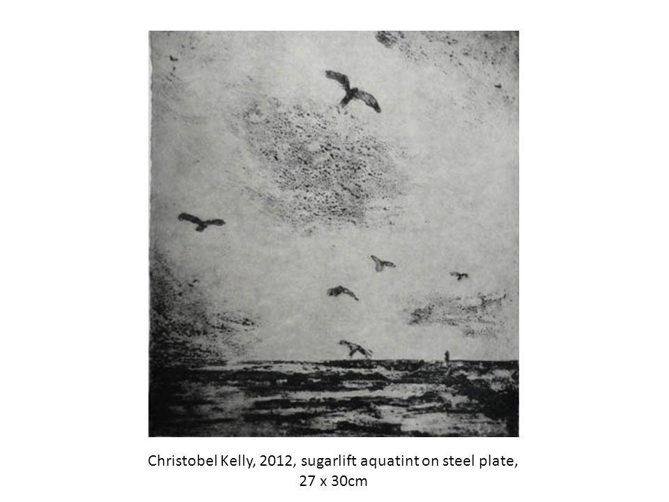 Christobel Kelly, 2012, sugarlift aquatint on steel plate, 27 x 30cm