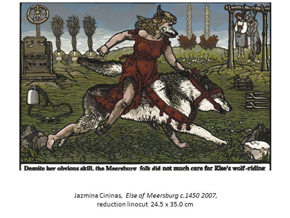Jazmina Cininas, Else of Meersburg c.1450 2007, reduction linocut 24.5 x 35.0 cm
