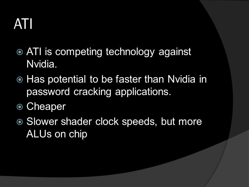ATI  ATI is competing technology against Nvidia.