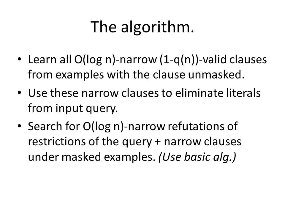 The algorithm.