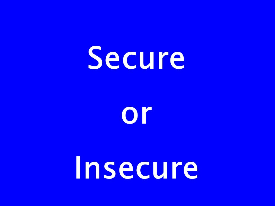Secure or Insecure