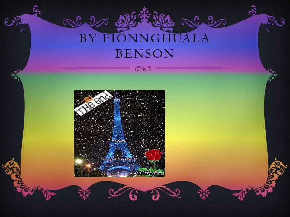 BY FIONNGHUALA BENSON