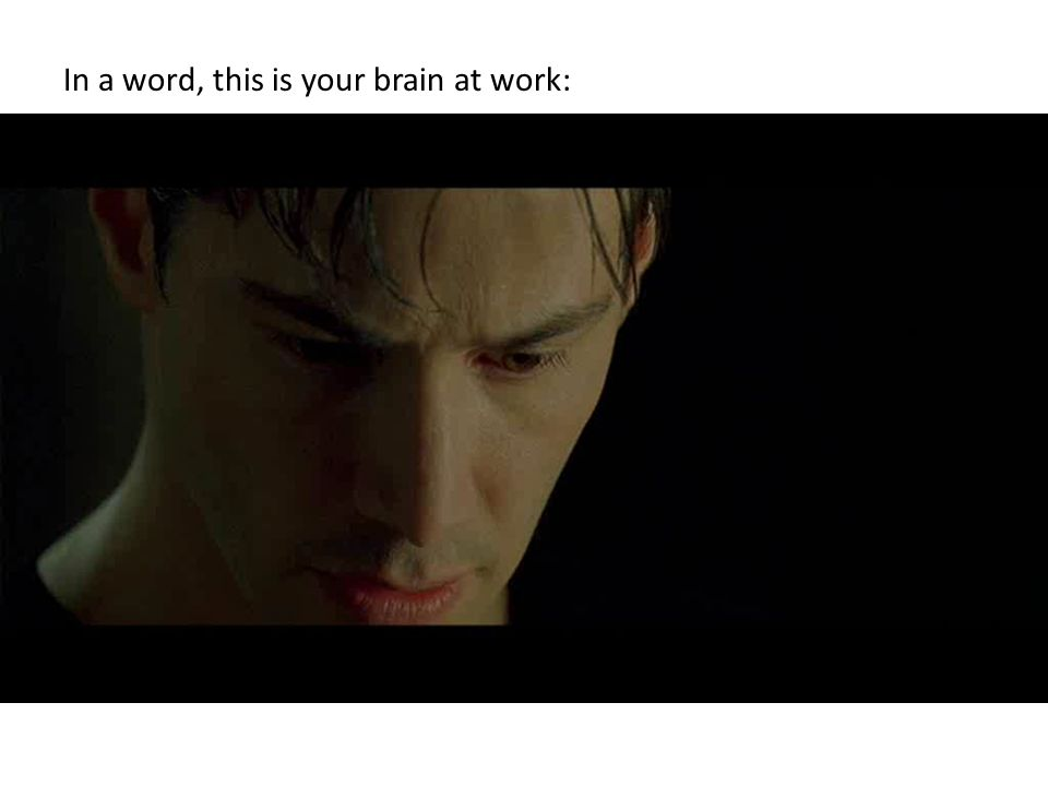 In a word, this is your brain at work: