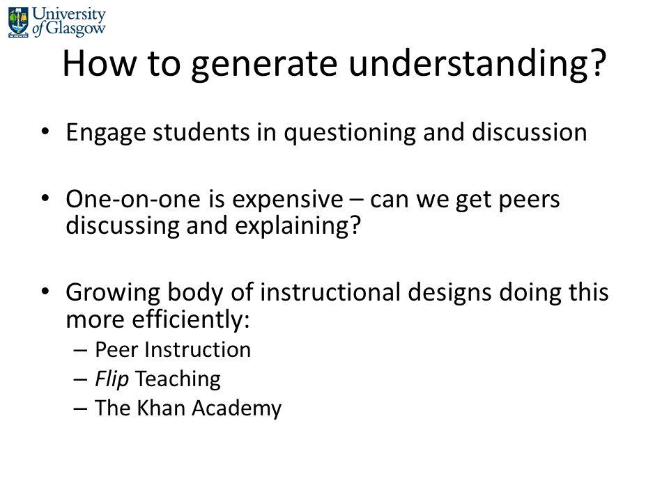 How to generate understanding.
