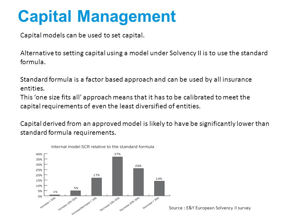 Capital Management Capital models can be used to set capital.