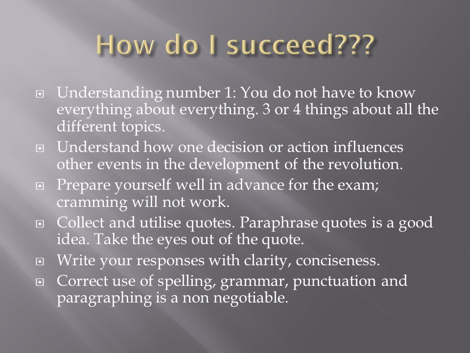  Understanding number 1: You do not have to know everything about everything.