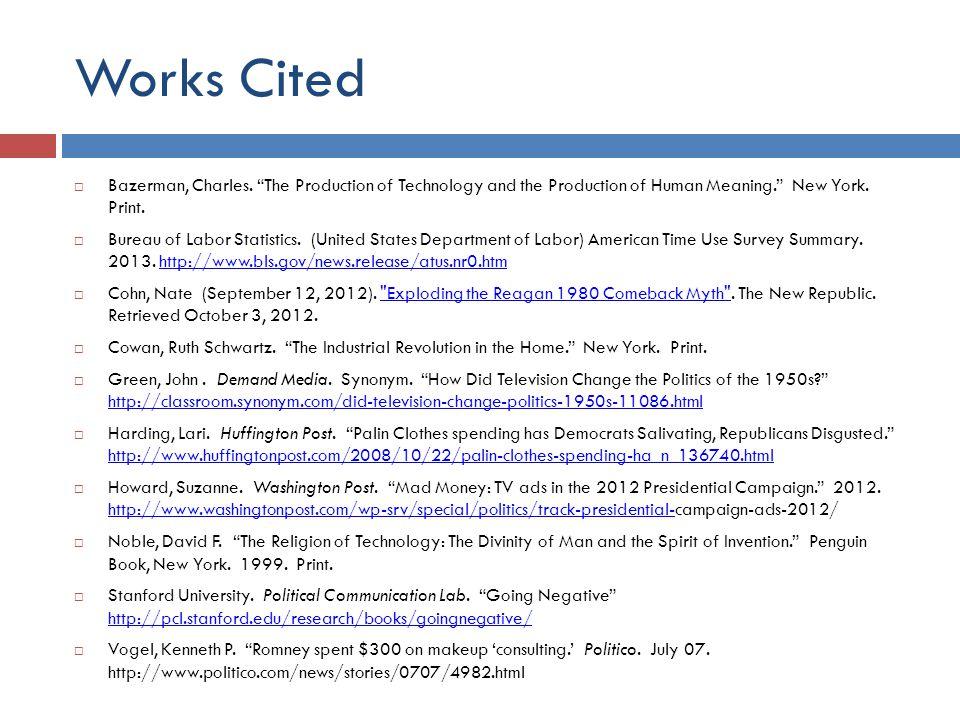 Works Cited  Bazerman, Charles.