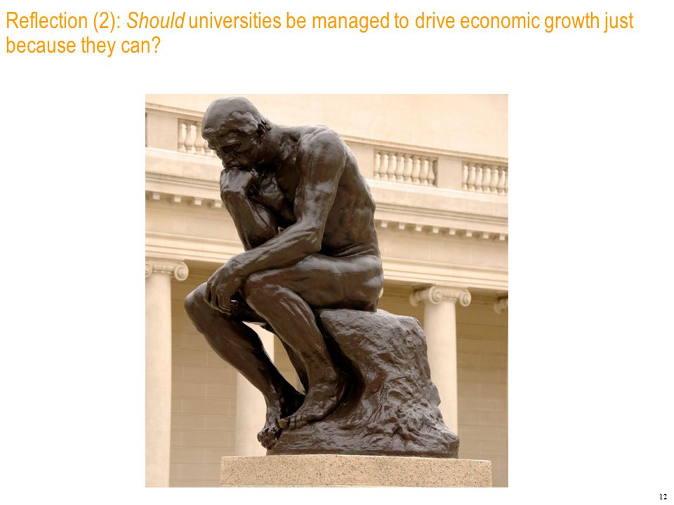 12 Reflection (2): Should universities be managed to drive economic growth just because they can
