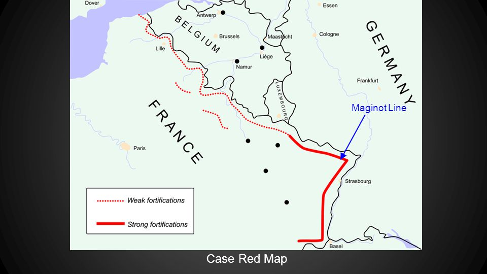 Case Red Map Maginot Line