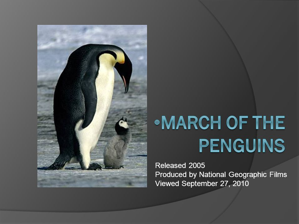 Summary – March of the Penguins  For thousands of years, Emperor penguins have participated in an incredible journey across the ice deserts of the Antarctic.