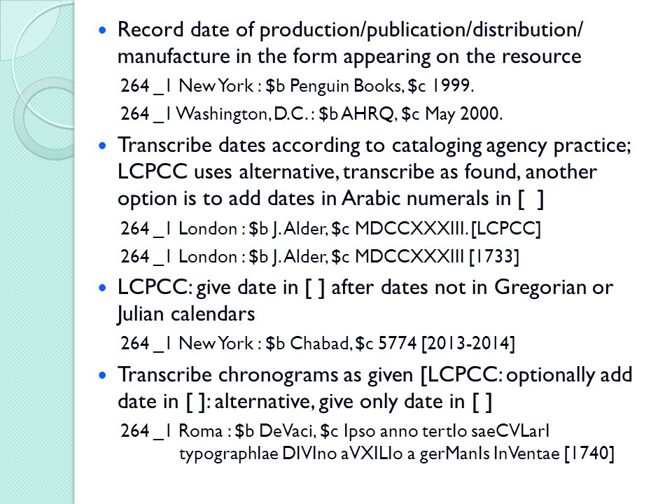 Record date of production/publication/distribution/ manufacture in the form appearing on the resource 264 _1 New York : $b Penguin Books, $c 1999.