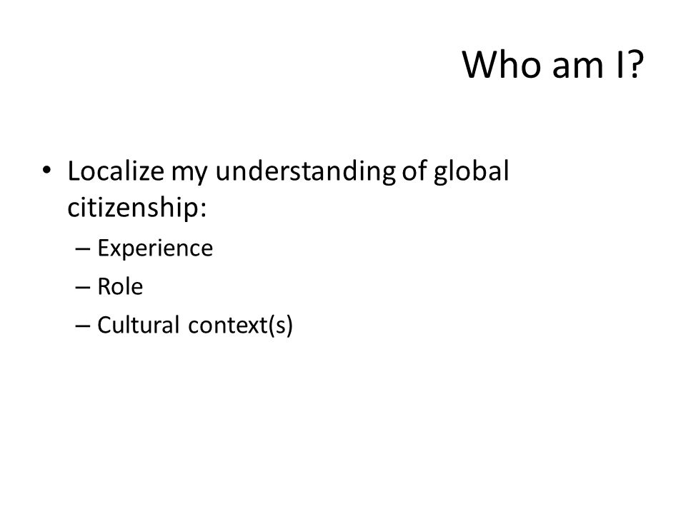 Why global citizenship.