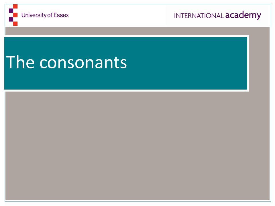 The consonants
