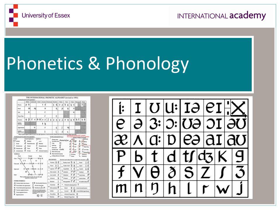 Phonetics & Phonology