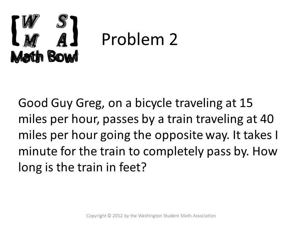 Problem 23 Copyright © 2012 by the Washington Student Math Association