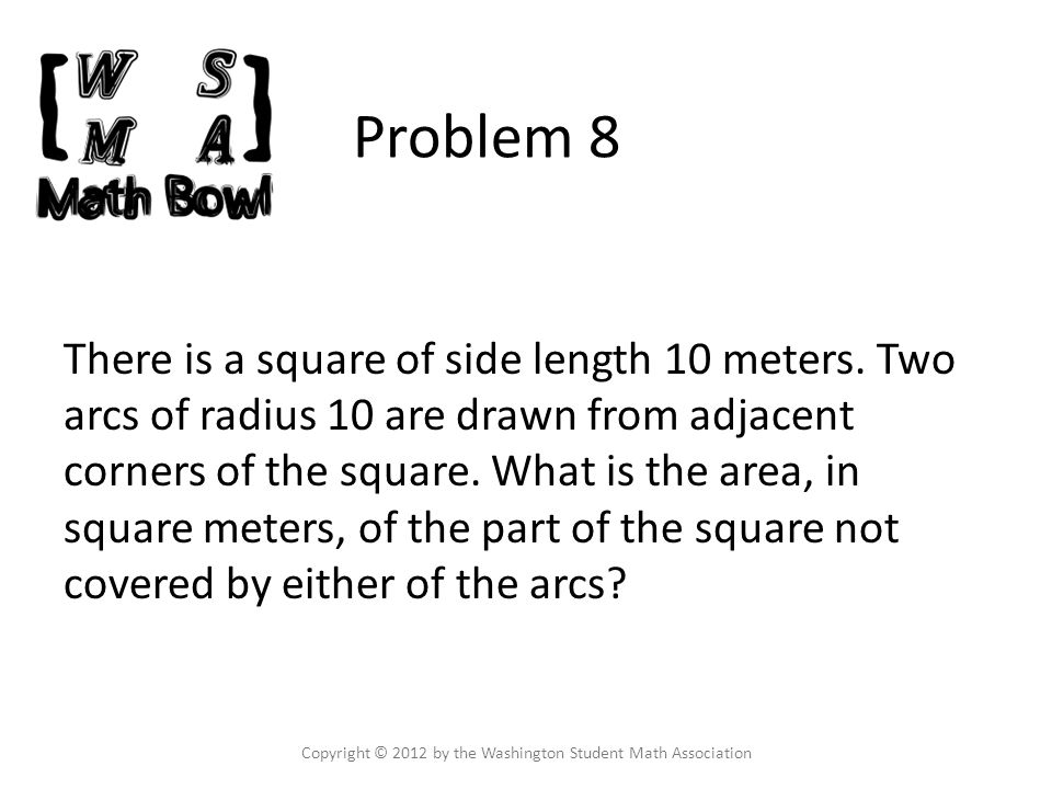 Problem 9 An unlimited amount of water is being extracted with machines that fill up a tank.