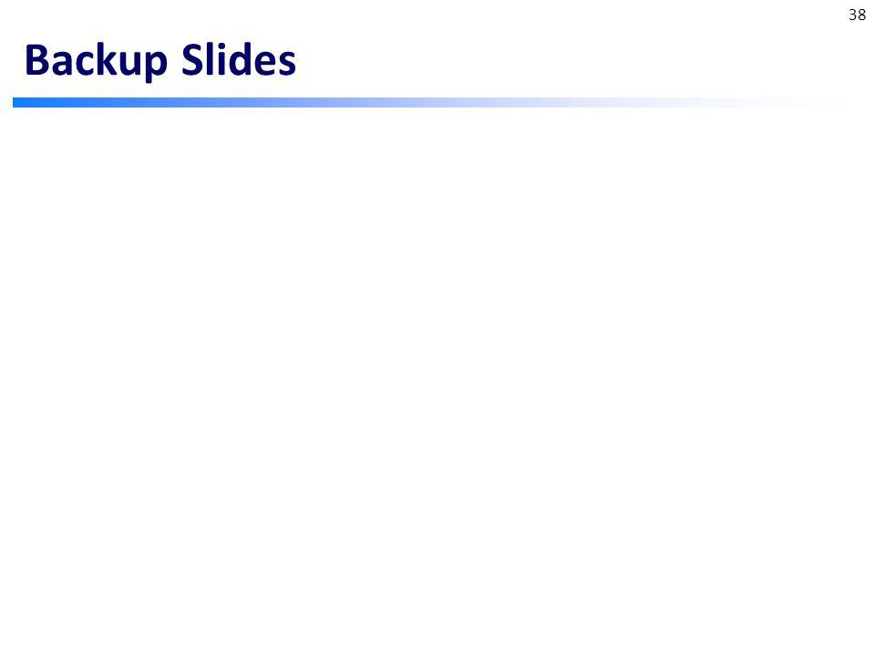Backup Slides 38