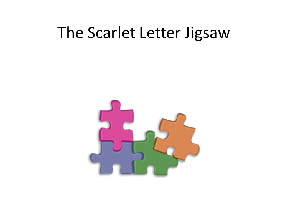 The Scarlet Letter Jigsaw