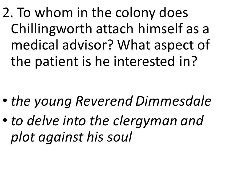 3.Describe Dimmesdale's health. p.