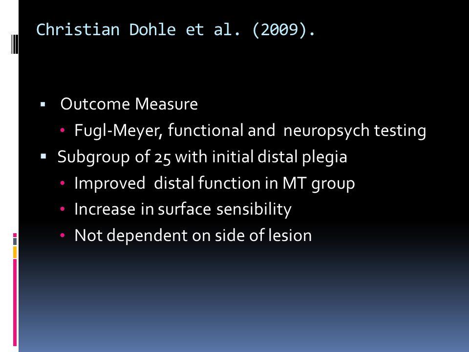 Christian Dohle et al. (2009).