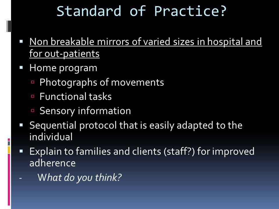 Standard of Practice.