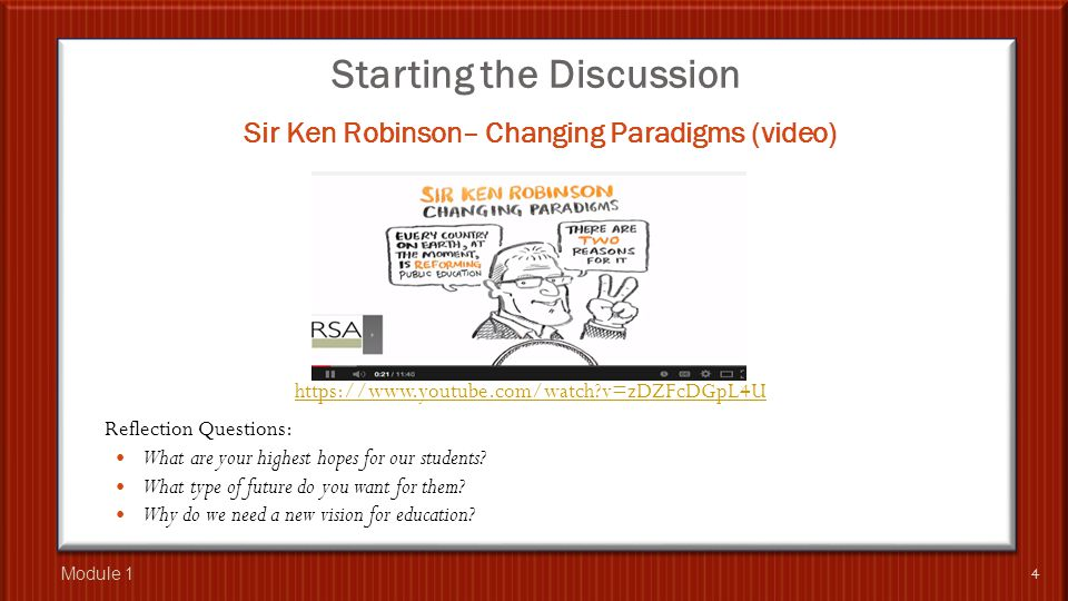 Starting the Discussion The Voice of the Active Learner (video) 5 Reflection Questions: What are your highest hopes for our students.