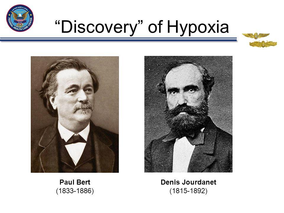 Discovery of Hypoxia Paul Bert (1833-1886) Denis Jourdanet (1815-1892)